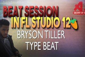 Bryson Tiller Type Beat Session In FL Studio 12