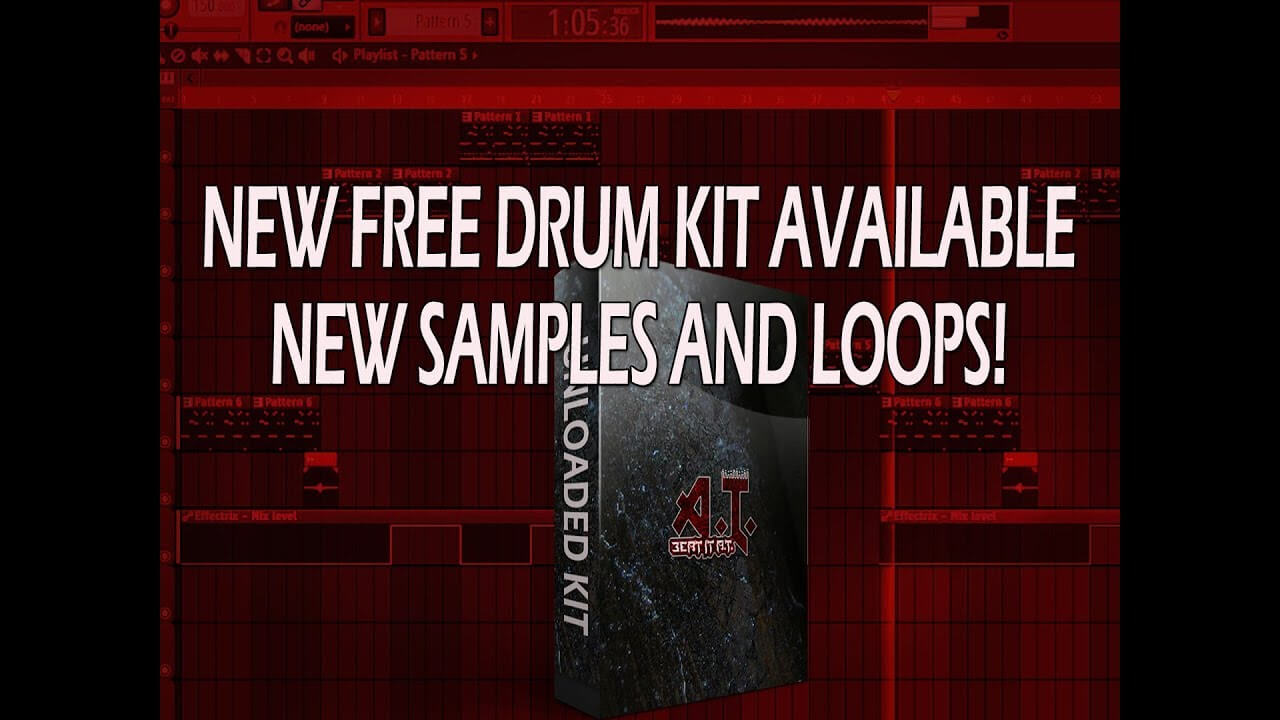 Sampling And Making A Beat With New Free Drum Kit – Beat It AT